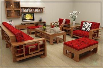 sofa gỗ tự nhiên 05   NỘI THẤT KIM ANH sản xuất giá chỉ 18 triệu