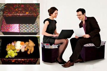 Ghế hộp đa năng hình chữ nhật cao cấp   kt:48 x 30 x 30cm