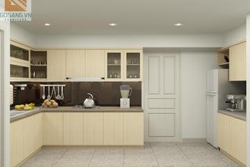 Tủ bếp Veneer sồi VS02