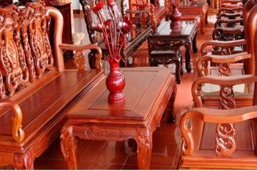 Bộ bàn ghế minh quốc gỗ hương Tay 10, 06 món