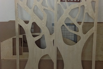 Cắt CNC giá rẻ vách trang trí  gỗ MDF dày 9mm   12 mm