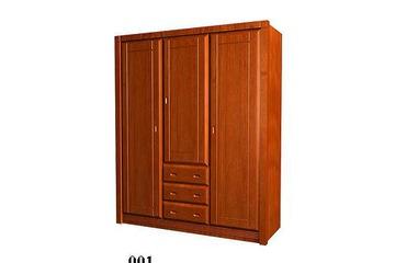 Tủ áo gỗ tự nhiên Ash giá 2,7 triệu / m2