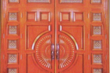 Cửa chính 4 cánh gỗ gõ đỏ Hpw