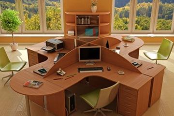 Sản xuât vách ngăn văn phòng  modul làm việc