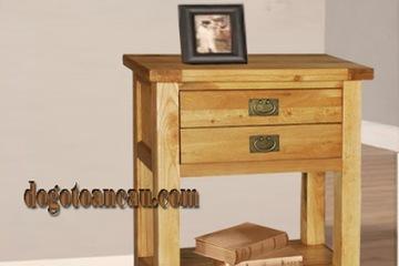 Bàn trang trí gỗ sồi  Victoria  2hộc 1tầng