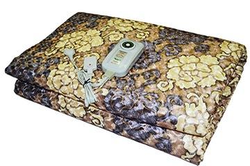 Đệm điện Kyung Dong nhung vàng kích thước 1.5 x 1.8