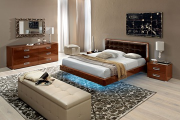MSP 062: Giường ngủ gỗ veneer sồi đẹp mẫu 2014