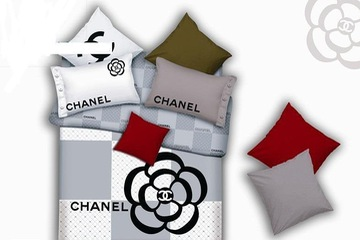 Bộ Drap Chăn   ga cao cấp Chanel