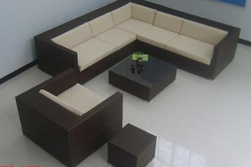 Sofa góc mây nhựa có tay TS 087
