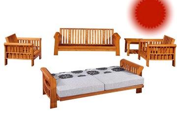 sofa giường giá rẻ chất liệu gỗ sồi sang trọng