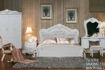 Bộ phòng ngủ cổ điển 1319 thi công cho khách