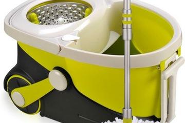 Chổi  lau nhà cao cấp Walkable mop V15 có bánh xe