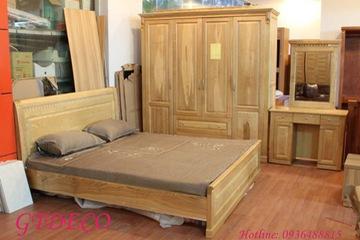 Bộ phòng ngủ gỗ sồi BD27