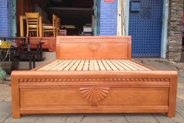 Giường gỗ sồi kiểu mới