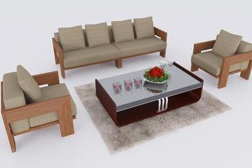 Sofa gỗ.sofa gỗ sang trọng phòng khách,sofa gỗ tự nhiên Nội Thất KIM ANH