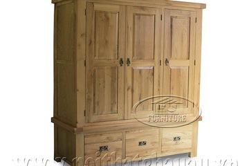 Tủ áo 3 cánh gỗ sồi