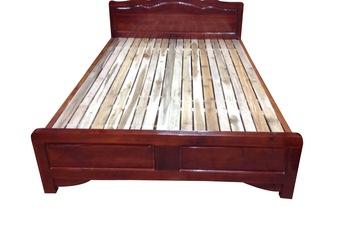 Giường gỗ Keo giá rẻ rộng 1,6m x dài 2m