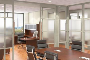 Vách ngăn di động kính văn phòng sang trọng VDDK13