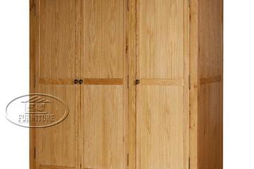 tủ áo 3 cánh suôt gỗ sồi