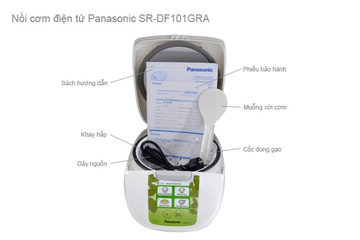Nồi cơm điện tử 1,1 lít Panasonic SR DF101GRA