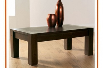 bàn sofa gỗ sồi Chunky 2 tầng
