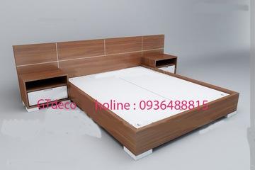 Giường gỗ công nghiệp An cường