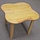 Bộ bàn ghế gỗ thông tự nhiên VN, tháo gập được chân 60x60x60c.
