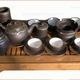22 mẫu Bộ trà gốm Bát Tràng chạm khảm đồng bạch Quà tặng si.