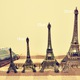 Tháp Eiffel trang trí kim loại làm quà tặng bán Ho Chi Minh, Ha Noi, to.