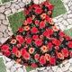 Đầm hoa 2 dây màu đỏ sang trọng,gợi cảm với giá lẻ rẻ nhấ.