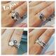 Nhẫn bạc 925 hàng xuất dư, có thể đeo 1 hoặc 2 4c trên 1 ngón.