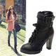Ankle boots siêu cao gót, chống thấm nước, phong cách Âu Mĩ, ôm ch.