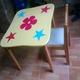 Bàn ghế gỗ mầm non mới.
