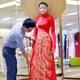 Áo dài nữ, áo dài cô dâu chú rể mẫu mới nhất 2014.