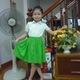 Áo váy đáng yêu cho cá bé gái từ 5 7 tuổi.