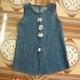 Váy bò cho bé mặc mùa thu và áo cổ lọ.