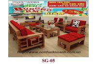 Sofa gỗ SG05, sofa gỗ Sồi tự nhiên giá khuyến mãi.