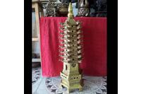 Tháp văn xương, tháp đồng phong thủy, cao 60cm.