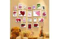 Bộ khung ảnh treo tường hoa hồng.