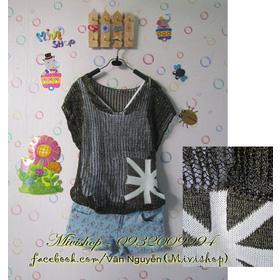 Áo len nhũ túi cờ mua sắm online Thời trang Nữ