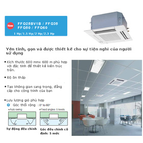 M&aacutey lạnh &acircm trần inverter mua sắm online Điện máy