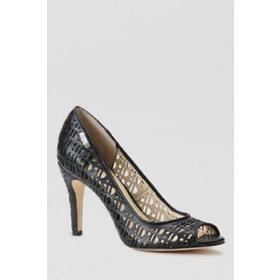 Calvin klein size 7 Giày pump da thật , màu đen dạng lưới  Cao 9cm mua sắm online Hàng hiệu
