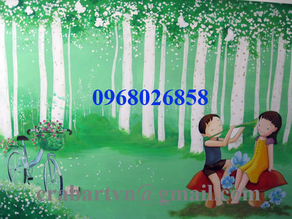 Vẽ tranh tường chất lượng cao giá rẻ. Ảnh số 27170638