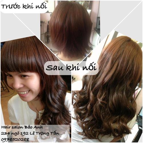 SALON BẢO ANH.Nối tóc tại nhà ,nối Sợi FiberGlass ko keo nối cực bền,đẹp, miễn phí nhuộm và ép tóc nối.Độ dài tuỳ ý. Ảnh số 30116413
