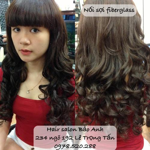 SALON BẢO ANH.Nối tóc tại nhà ,nối Sợi FiberGlass ko keo nối cực bền,đẹp, miễn phí nhuộm và ép tóc nối.Độ dài tuỳ ý. Ảnh số 30116456