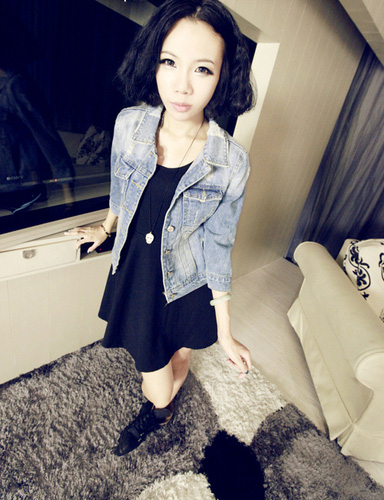 Áo khoác jean nữ, sơ mi jean nữ form đẹp, giá rẻ Ảnh số 30335700