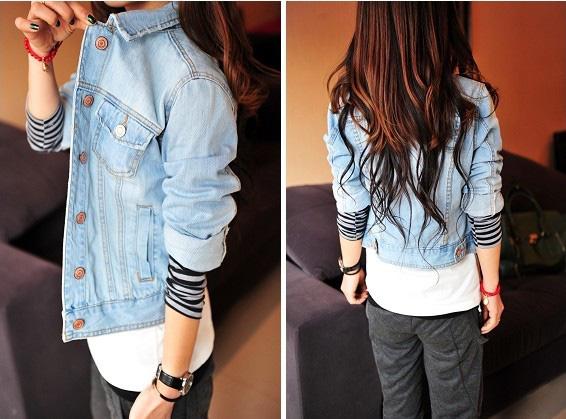 Áo khoác jean nữ, sơ mi jean nữ form đẹp, giá rẻ Ảnh số 30335719