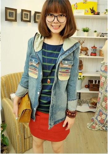 Áo khoác jean nữ, sơ mi jean nữ form đẹp, giá rẻ Ảnh số 30335735