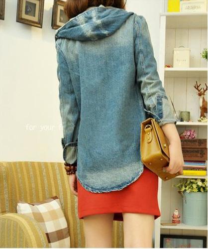 Áo khoác jean nữ, sơ mi jean nữ form đẹp, giá rẻ Ảnh số 30335739