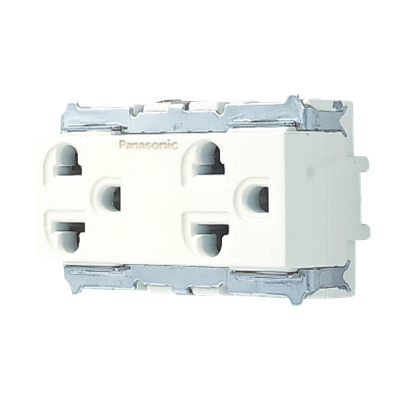 ổ cắm đôi 3 chấu panasonic WNG159237W